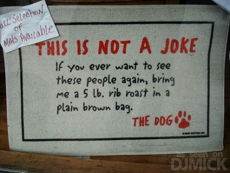Dog Ransom People Doormat