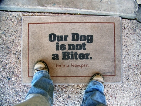 Humping Dog Doormat