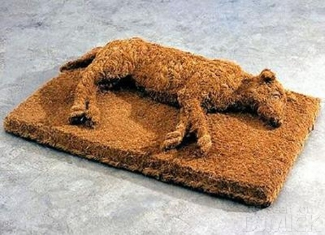 Raised Dog Shape Doormat