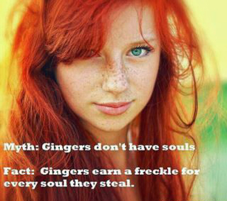 Ginger soul stealing freckles