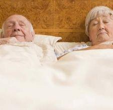 Old Couple Farting in Bed Joke at PhotosAndFun.com