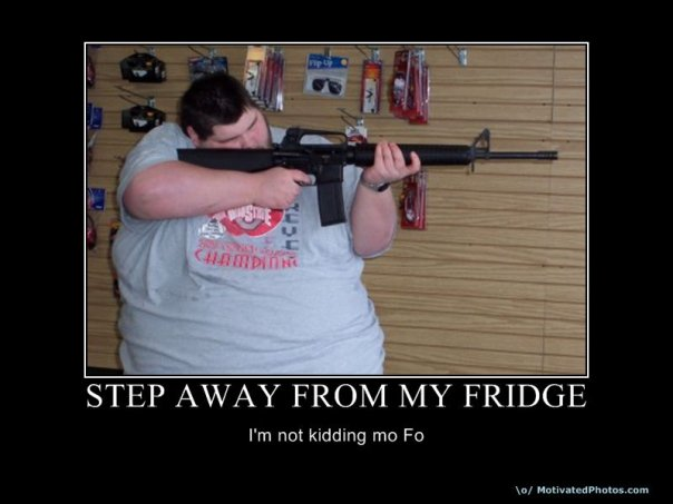 Step Away from My Fridge Motivational Poster