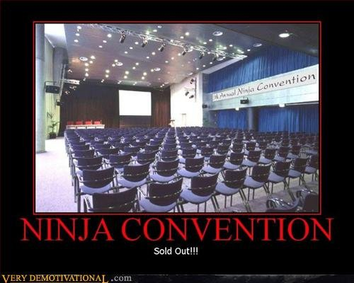 Ninja Convention Motivational Poster
