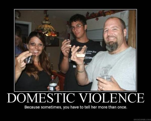 Domestic Violence Motivational Poster