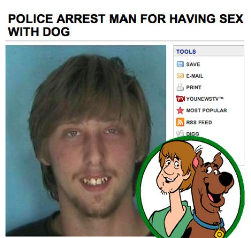 Police arrest man for having sex with dog shaggy look-alike