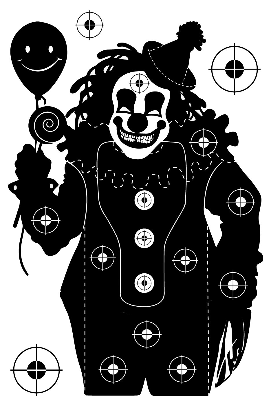 Clown Shooting Target at PhotosAndFun.com