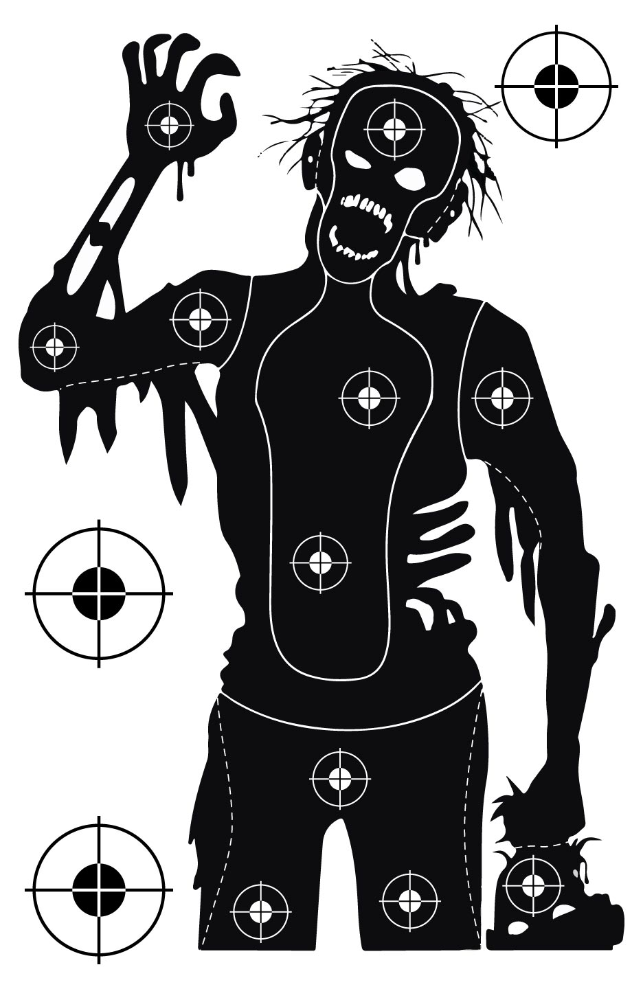 Single Zombie Shooting Target at PhotosAndFun.com