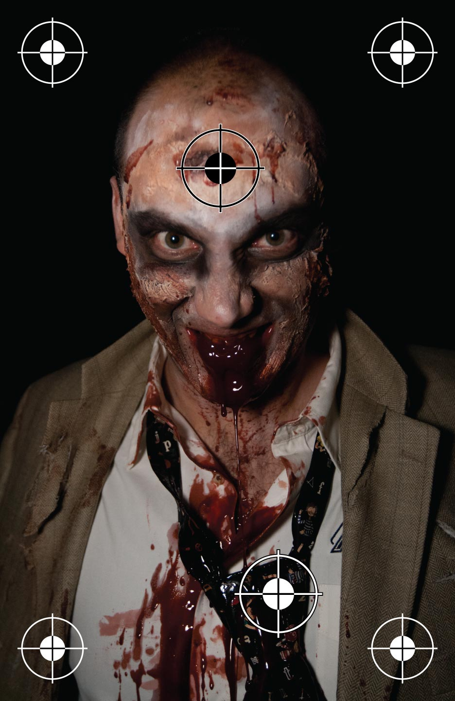 Realistic Zombie Shooting Target at PhotosAndFun.com