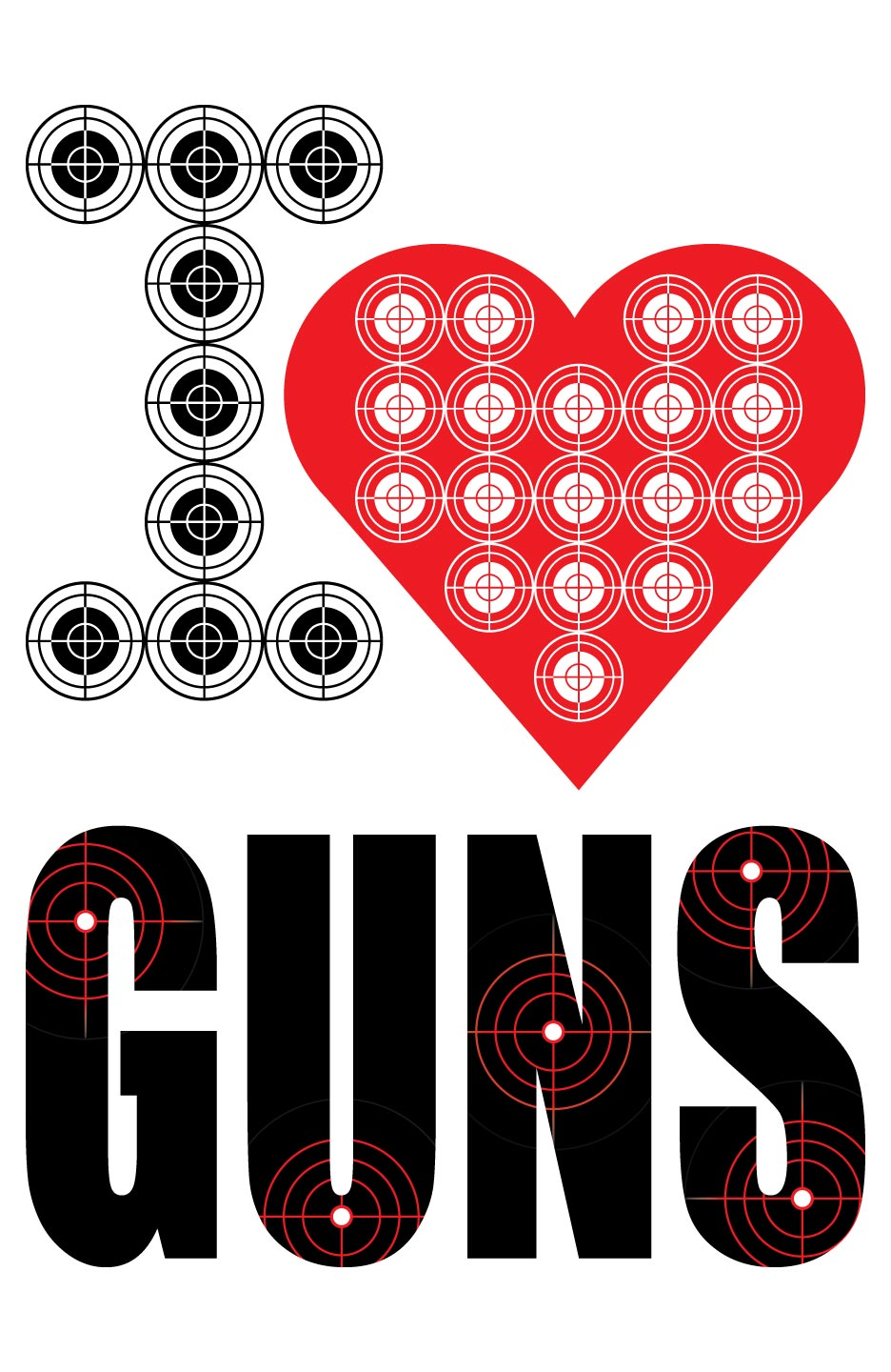 I Heart Guns Shooting Target at PhotosAndFun.com