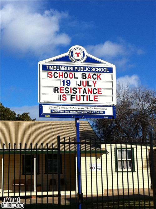 School Is Back Sign