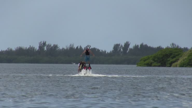 Jason enjoying Fly Boarding