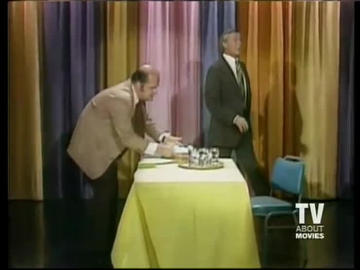 Dom Deluise and Johnny Carson with an Egg Trick