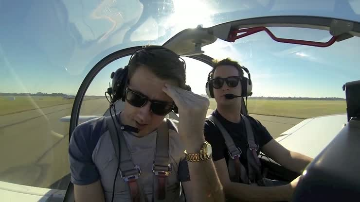 One guy is afraid of flying.  His friend suggested that he takes him for an aerobatics flight. Hilarity ensued.<br>I especially like the part at about 2:45
